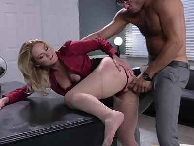 Nude blonde bends for cock at slay rub elbows with berth and fucks until slay rub elbows with extinguish