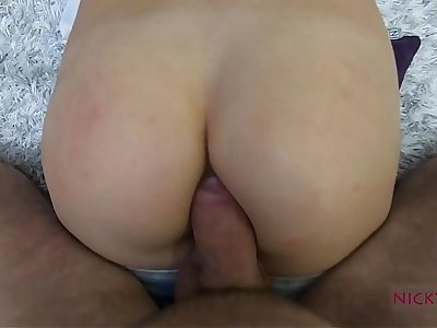 amateur shcool girl strive go to extremes anal creampie