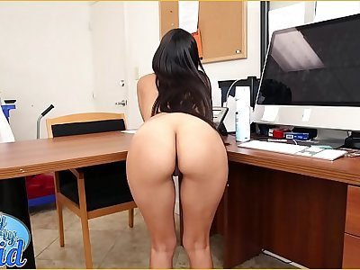 BANGBROS - Sean Racketeer Has A New Latin Maid, Soffie, Coupled with She Is A Total MILF