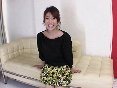 Asian cutie Mizuki Tsukamoto enjoys riding a large manhood