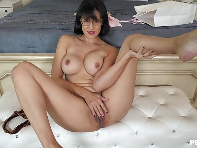 Excellent mommy porn in flaming abode solo