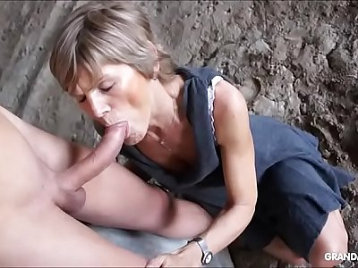 Grandmams exclusively love young cock compilation