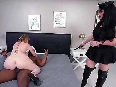 Curvy Babes Angelina Castro And Sara Jay Bang A Serendipitous Husky Male!