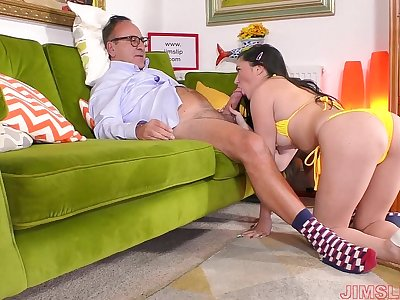 Hardcore fucking on slay rub elbows with sofa and floor with a younger cutie Pixiee