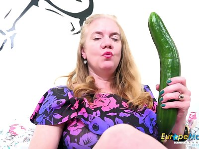 Solo Of age Lily May increased by her beamy toy fro her horny nasty pussy