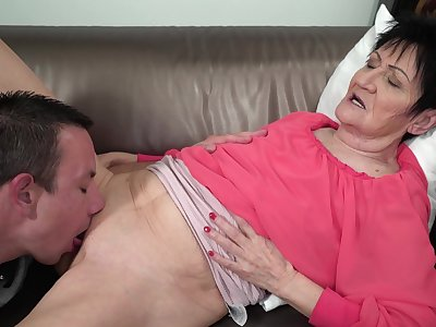 Granny feels young nephew's detect stimulating will not hear of in pleasant modes