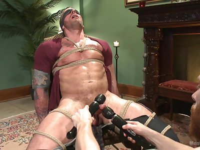 Naked prima ballerina endures rough bondage with his master