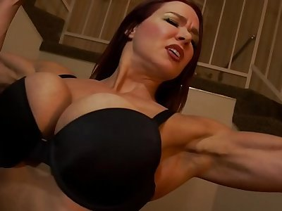Muscular Secretary Dominates the Big gun