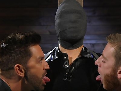 Submissive hunk Matt Anthony visits Kink to explore the world for BDSM