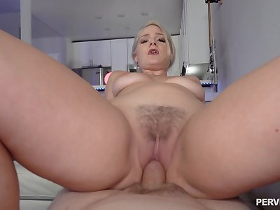 Closeup with step mommy when she rides dick the hard way