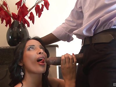 Black guy with a monster dick fucks juicy pussy of Anissa Kate